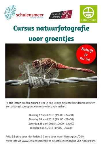 Cursus natuurfotografie voor groentjes